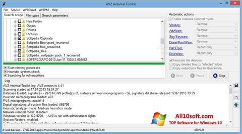 Ekraanipilt AVZ Windows 10