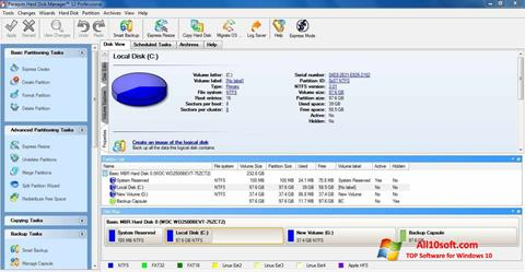 Ekraanipilt Paragon Hard Disk Manager Windows 10