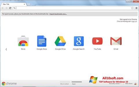Ekraanipilt Google Chrome Windows 10