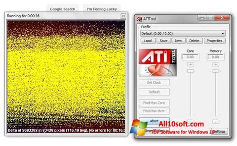 Ekraanipilt ATITool Windows 10
