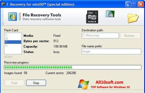 Ekraanipilt F-Recovery SD Windows 10
