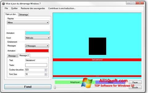 Ekraanipilt Boot Updater Windows 10