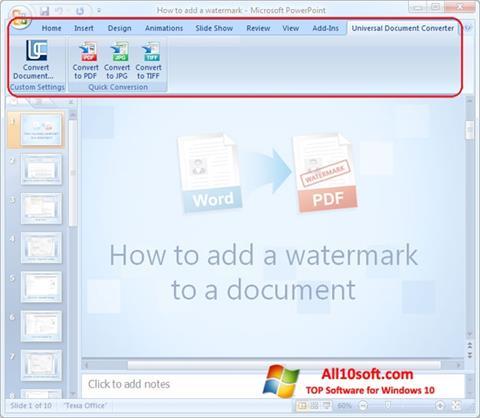 Ekraanipilt Microsoft PowerPoint Windows 10