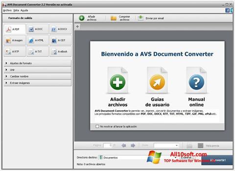 Ekraanipilt AVS Document Converter Windows 10