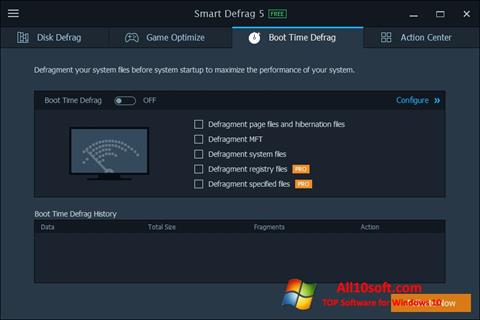 Ekraanipilt Smart Defrag Windows 10
