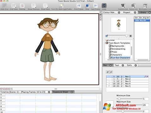 Ekraanipilt Toon Boom Studio Windows 10