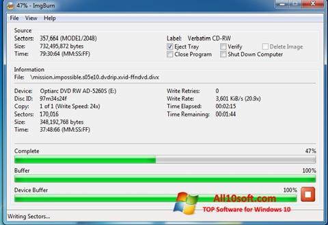 Ekraanipilt ImgBurn Windows 10