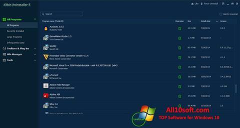 Ekraanipilt IObit Uninstaller Windows 10