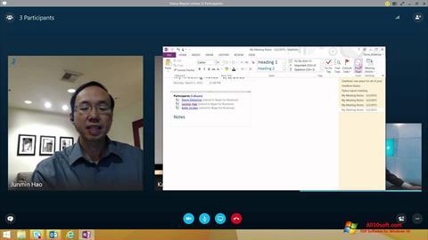 Ekraanipilt Skype for Business Windows 10