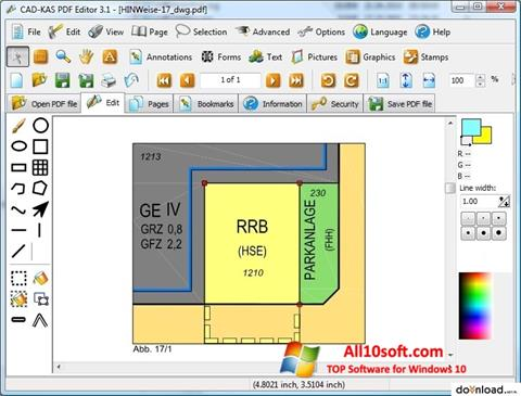 Ekraanipilt PDF Reader Windows 10