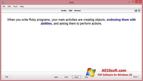 Ekraanipilt Anki Windows 10