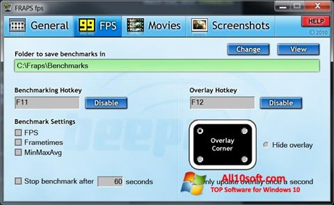 Ekraanipilt Fraps Windows 10