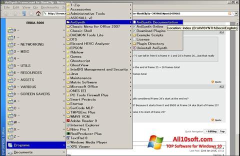 Ekraanipilt AviSynth Windows 10