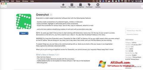Ekraanipilt Greenshot Windows 10