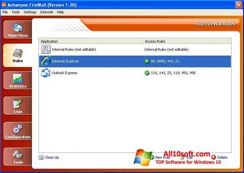 Ekraanipilt Ashampoo Firewall Windows 10