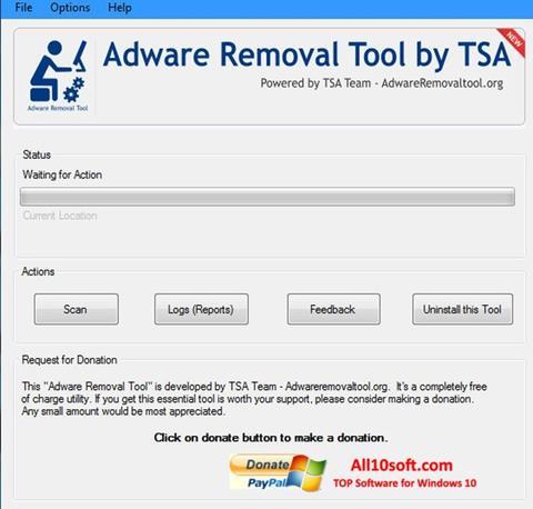 Ekraanipilt Adware Removal Tool Windows 10