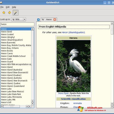 Ekraanipilt GoldenDict Windows 10