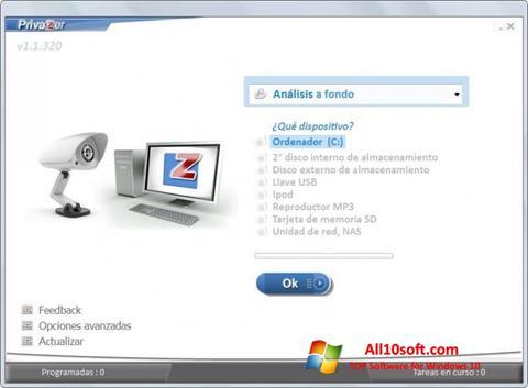 Ekraanipilt PrivaZer Windows 10