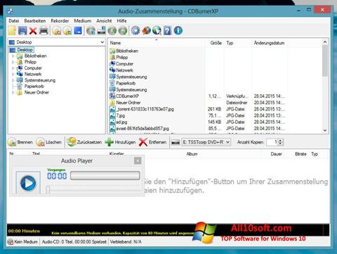 Ekraanipilt CDBurnerXP Windows 10