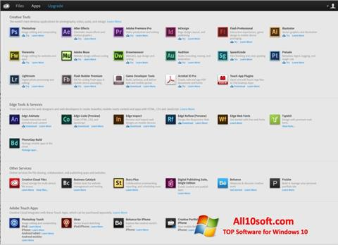 Ekraanipilt Adobe Creative Cloud Windows 10