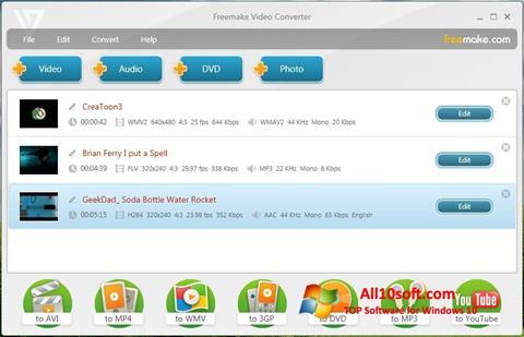 Ekraanipilt Freemake Video Converter Windows 10