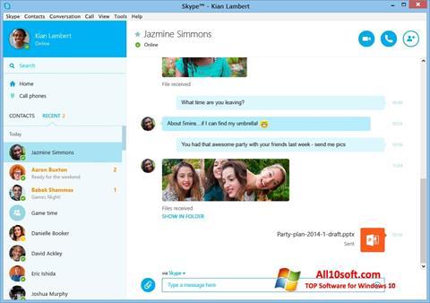 Ekraanipilt Skype Windows 10