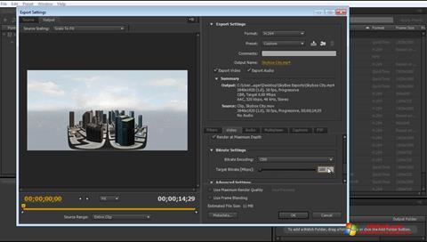 Ekraanipilt Adobe Media Encoder Windows 10
