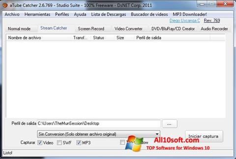 Ekraanipilt aTube Catcher Windows 10