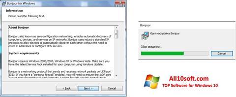 Ekraanipilt Bonjour Windows 10