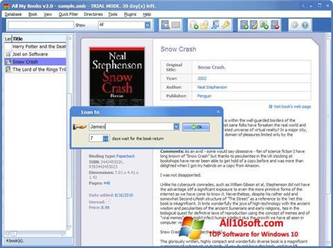 Ekraanipilt All My Books Windows 10