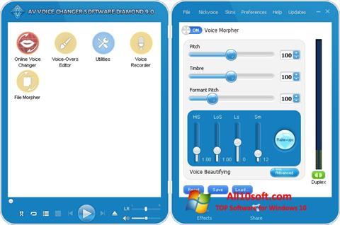 Ekraanipilt AV Voice Changer Diamond Windows 10