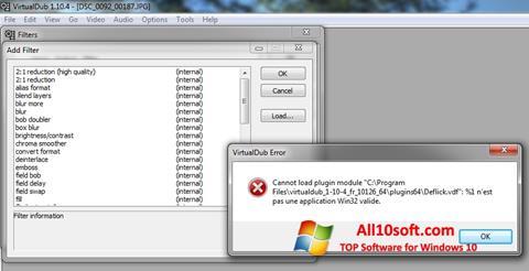 Ekraanipilt VirtualDub Windows 10