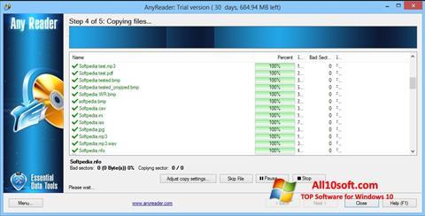 Ekraanipilt AnyReader Windows 10