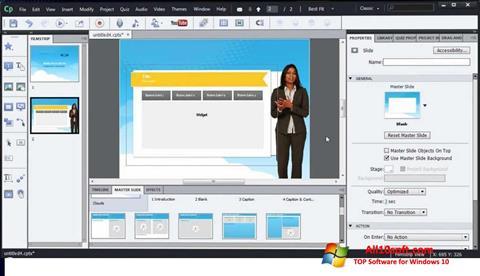 Ekraanipilt Adobe Captivate Windows 10