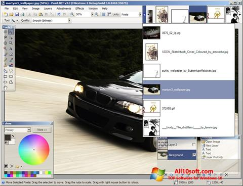 Ekraanipilt Paint.NET Windows 10